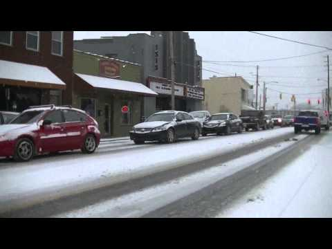WINTER SNOWFALL IN WEST ASHEVILLE, NC