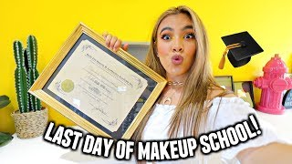 LAST DAY OF BEAUTY COLLEGE GRWM/VLOG