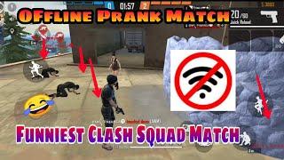 FreeFire || Offline Prank Match  || Clash squad Match || Funniest Match || devil MD