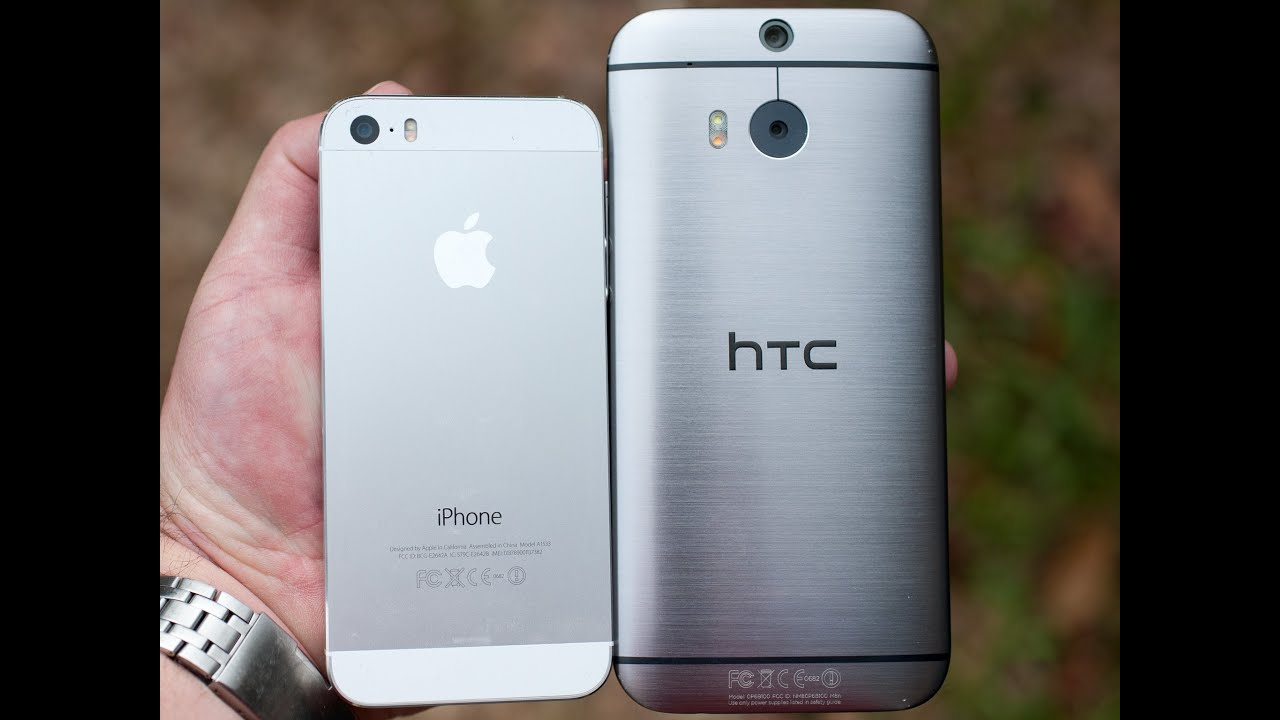 The new HTC One and the iPhone 5S - YouTube