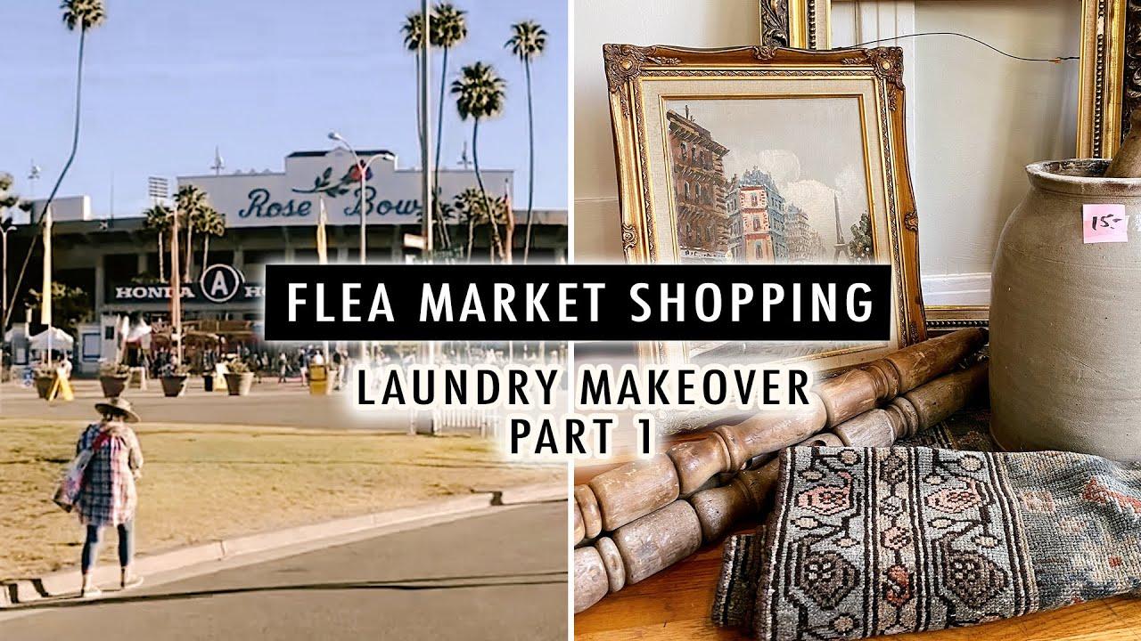 FLEA MARKET SHOPPING (Laundry Room Makeover PART 1) | XO, MaCenna