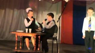 """Песня-сценка """"Большая перемена"""", исполняет 2 """"Б"""" класс Варгашинской средней шкрлы №1"""