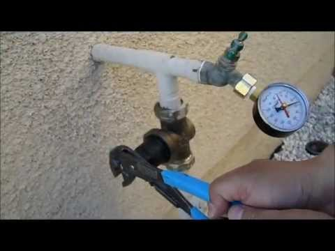 pressure gauge hook up