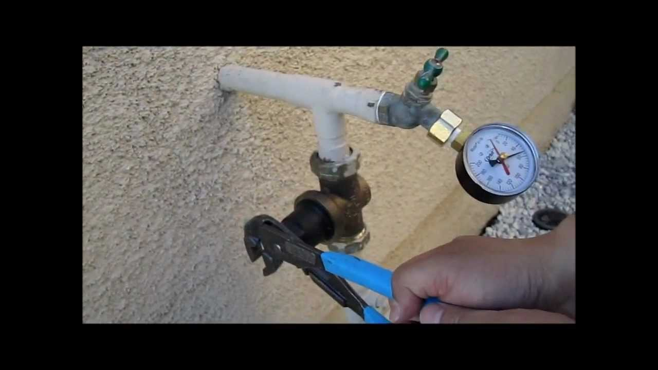 how to measure and adjust water pressure for the home youtube. Black Bedroom Furniture Sets. Home Design Ideas