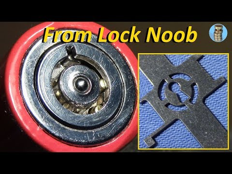 (picking 613) 'Lock Noob's special tubular tensioner made by Sparrows