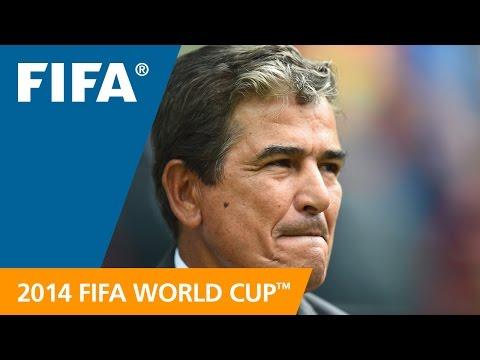 Costa Rica's Jorge Luis PINTO Final Draw reaction (Spanish)