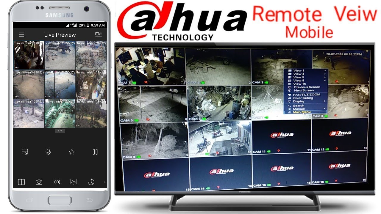 How to Dahua Dvr mobile view Configure by help anyone