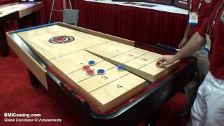 Get Pricing & Availability info at : http://www.bmigaming.com | Metro Motor City Snapback Rebound Shuffleboard Table from BMI