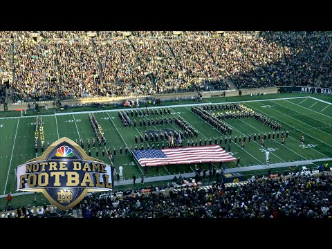 Notre Dame Marching Band Honors U.S. Military With Performance At Halftime Vs. Navy | NBC Sports