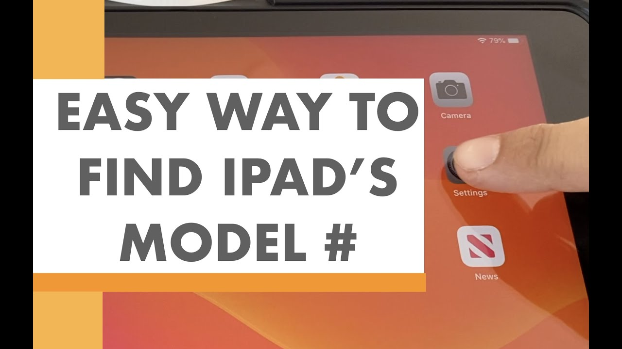 """SECRET IPAD TIP: How to find your """"A"""" Model Number"""