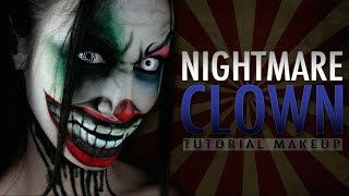 NIGHTMARE CLOWN - Halloween Makeup Tutorial
