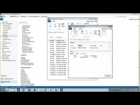 Fixed Assets in Microsoft Dynamics NAV 2015
