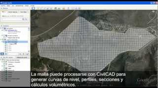 CivilCAD Generar Malla de Triangulación con el Módulo de Interfase con Google Earth™