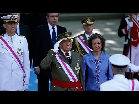 Final appearance for Juan Carlos as head of armed forces in Spain