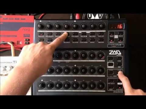 Jacob Korn jamming on the Zaquencer