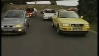 Renault 19 16v Ford Sierra Cosworth Ford Fiesta Turbo Opel Calibra.wmv