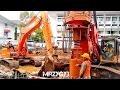 Doosan Dx225lca Excavator Sany Sr150c Drilling Rig Deep Foundation Work
