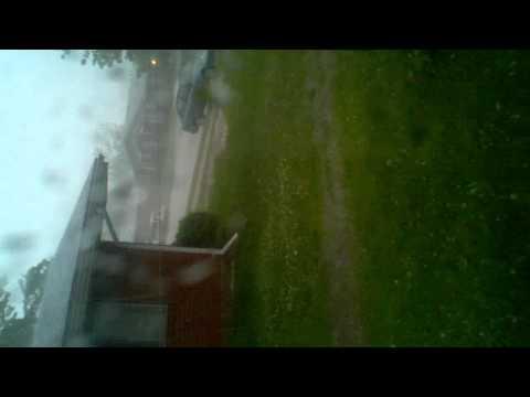Kettering. Hail storm