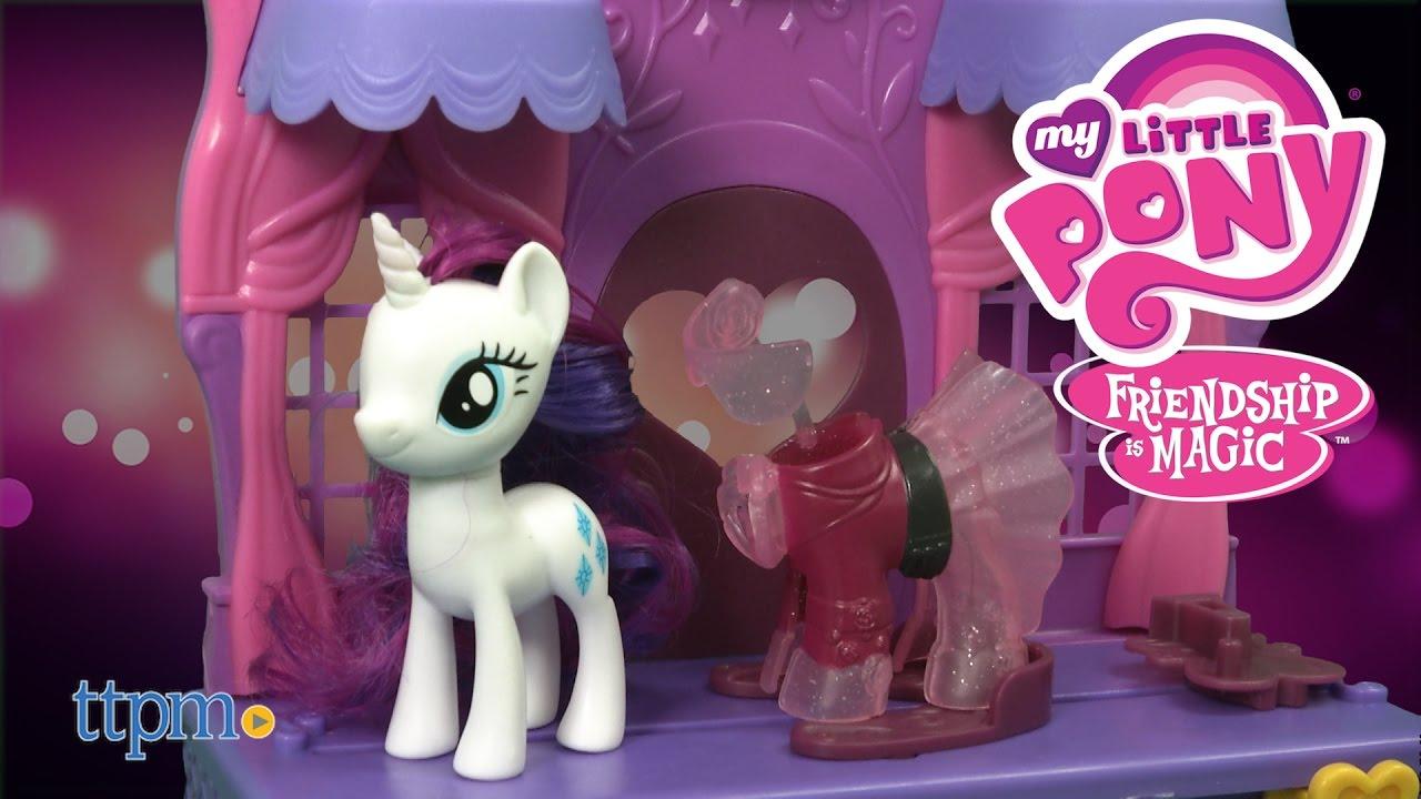 My Little Pony Rarity Fashion Runway From Hasbro Youtube