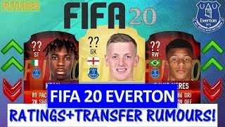 FIFA 20   EVERTON PLAYER RATINGS!! FT. PICKFORD, NERES, KEAN ETC... (TRANSFER RUMOURS INCLUDED)