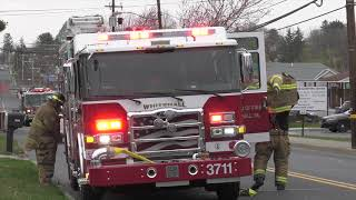FIRE TRUCKS ARRIVING TO POLICE STATION CALL  04/15/18