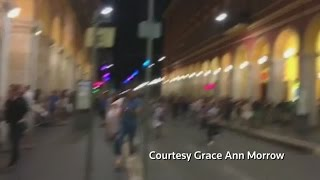Amateur video shows chaotic scene moments after truck ploughs into crowd in Nice, France attack