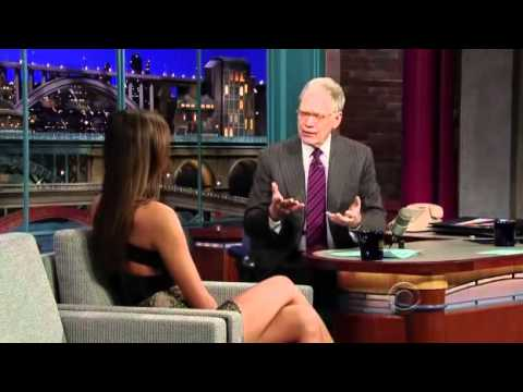 Irina Shayk on The Late Show With David Letterman