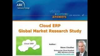 Enterprise Resource Planning (ERP) in the Cloud - a Global Market Research Report