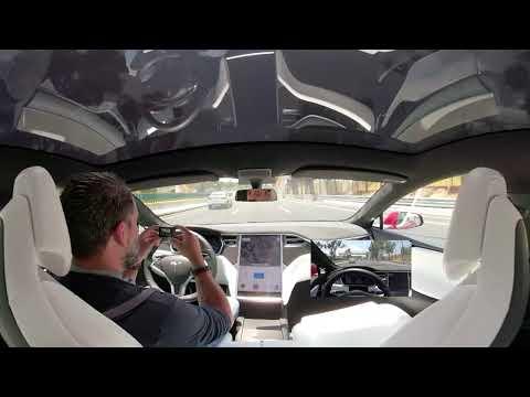 """Tesla Model S P100D: Video 360º """"Autopilot"""""""