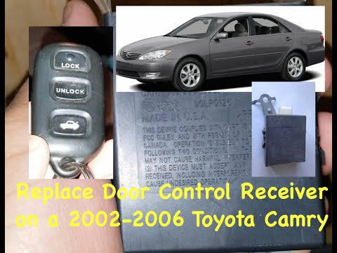Replace Door Control Receiver Module 89741 Aa020 For 2002 2006 Toyota Camry Youtube