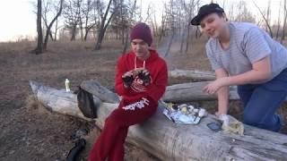 ВЛОГ из Красноярска - как запечь картошку в костре на природе? | 2015 - Метеор в Красноярске