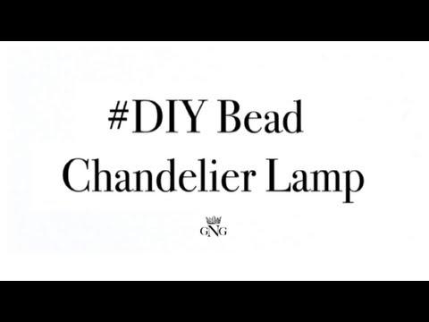 DIY Bead Chandelier Lamp - YouTube