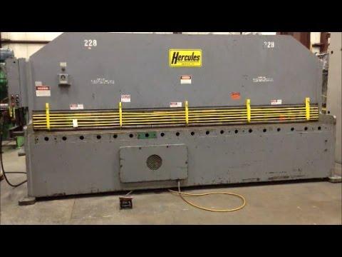 """Used 12' x 3/8"""" Hercules Shear, #26437"""