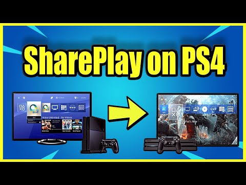 How to Share play on PS4 with a Friend! (Best Method)