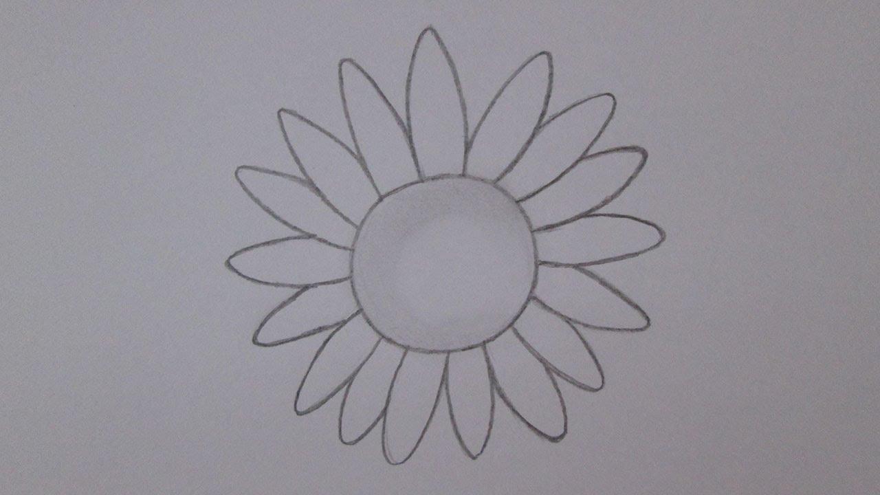 Conhecido Como desenhar um girassol - YouTube CS64