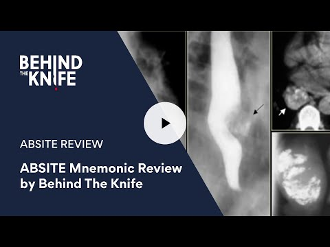 ABSITE Mnemonic Review  by Behind The Knife