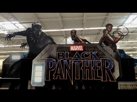 Off The Pegs: Black Panther Huge Display at USA Walmart with DVD Movies, T-Shirts, Toys