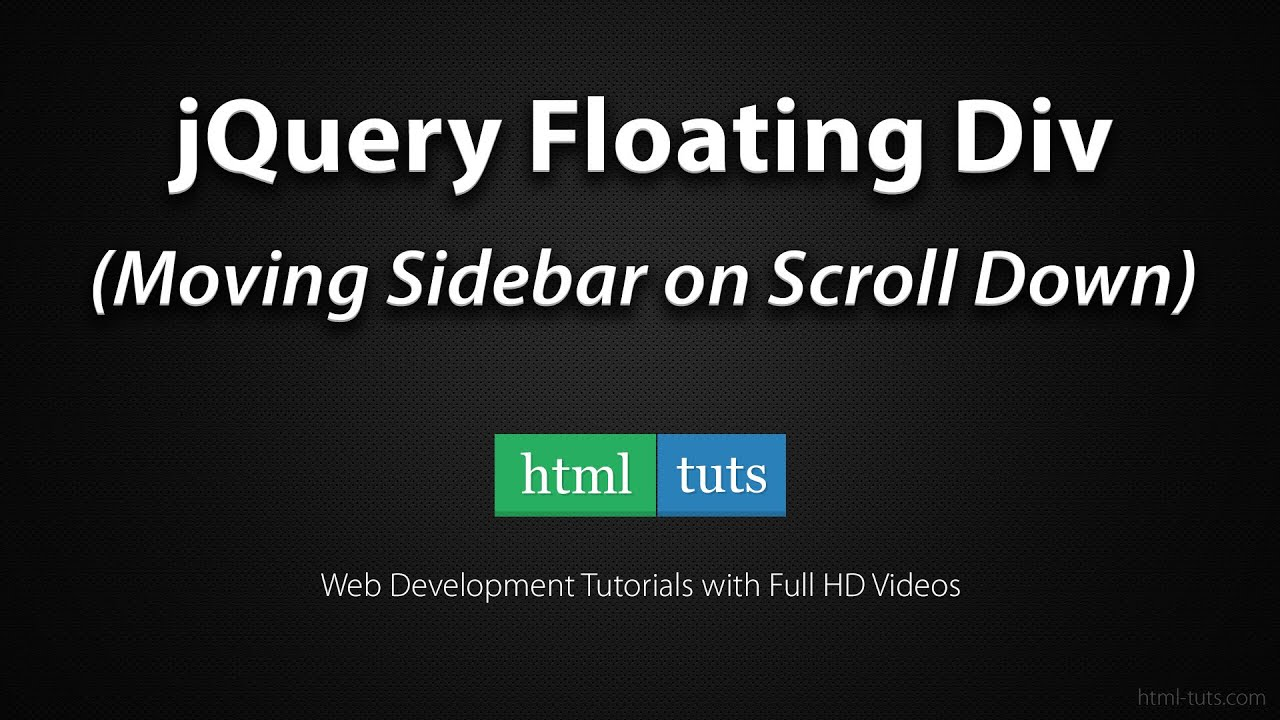 Jquery floating div sidebar on scroll down youtube - Jquery remove div ...