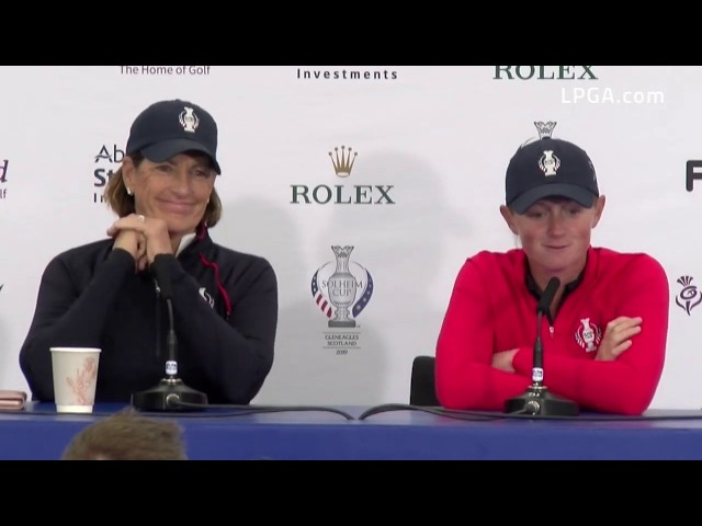 Juli Inkster and Stacy Lewis Discuss Lewis' Replacement on Team USA