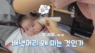 (SUB)생애 첫 미용실&이발/ 100일 아기 …