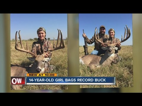 14-Year-Old Girl Bags Record Buck