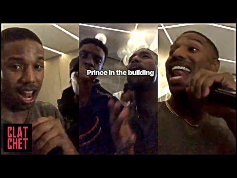 Michael B. Jordan & Chadwick Boseman Do Prince Karaoke