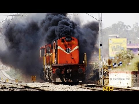 THE DIESEL VOLCANIC ERUPTION BY SMOKING ALCOS : INDIAN RAILWAYS