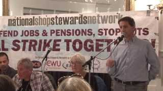 National Shop Stewards Network rally and lobby of Trades Union Congress 2013
