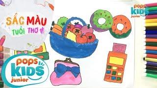 Sắc Màu Tuổi Thơ - Tập 58 - Bé Tập Vẽ Bánh Donuts | How To Draw Colorful Donuts