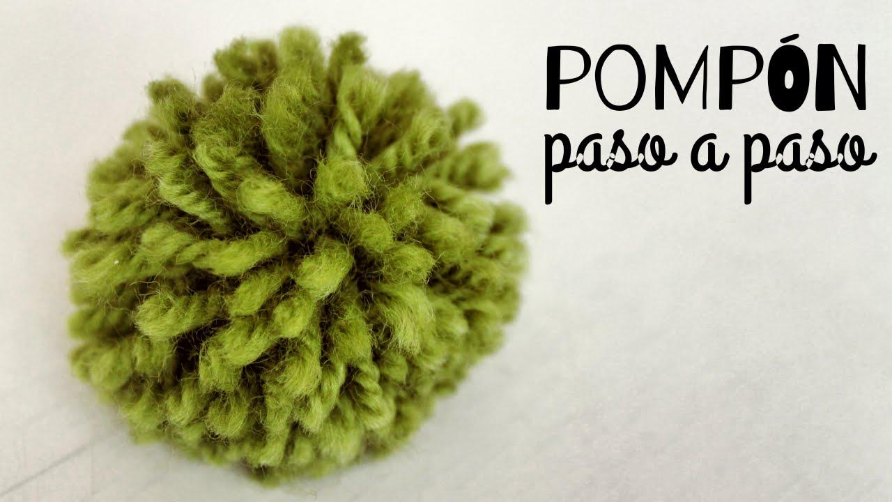 C mo hacer un pomp n de lana paso a paso youtube - Como hacer pompones ...