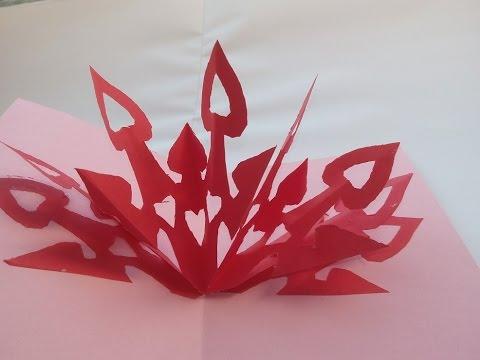 diy tutorial 3d valentinskarte selber machen making valentine 39 s day cards youtube. Black Bedroom Furniture Sets. Home Design Ideas