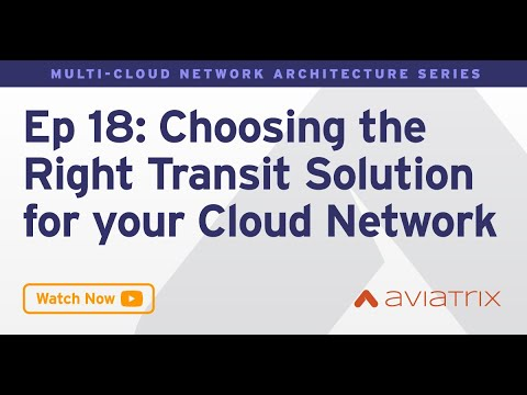 MCNA EP 18: Choosing the Right Transit Solution for your Cloud Network