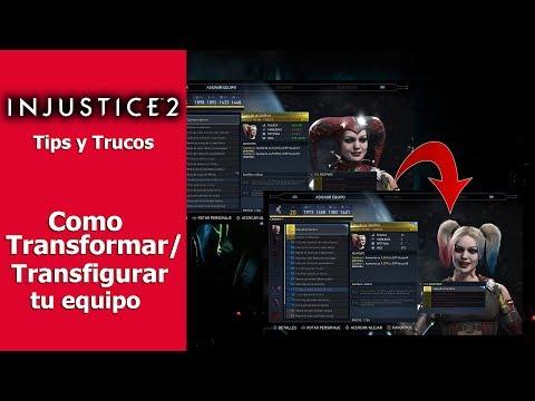 Injustice 2   Tips y Trucos   Cómo transformar/transfigurar equipo