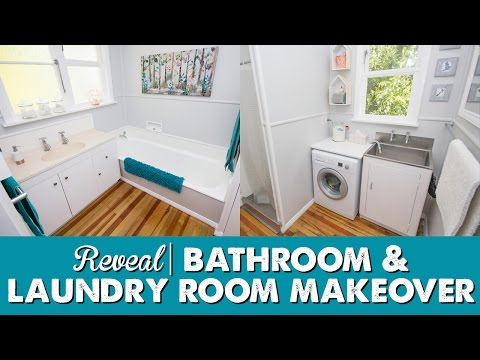 Budget Bathroom & Laundry Makeover - Tour   A Thousand Words